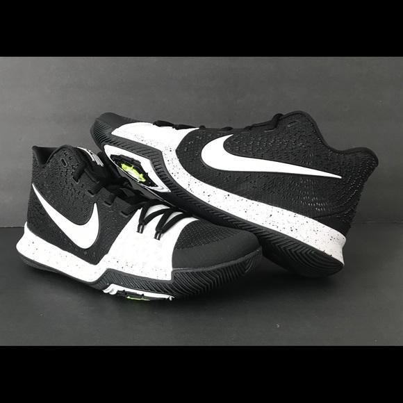 newest 23893 14ced Nike Kyrie 3 TB Tuxedo Black White Size 10